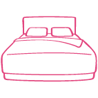 Housekeeping bed icon